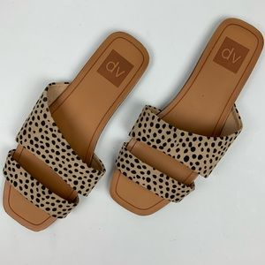 Like New! Animal Print Slide Slip On Sandals 8